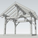 12x14 Post and Beam Porch