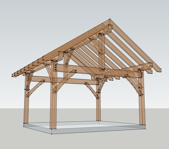 14x16 post and beam timber frame hq for House plans post and beam