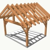 14x16 timber frame porch