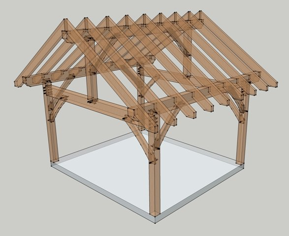 16x14 Timbered Porch Timber Frame House Plans Kits And More