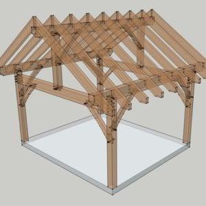16x14 Timbered Porch