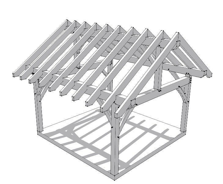16×16 Timber Frame Plan