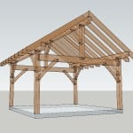 16x16 Timber Frame Shed