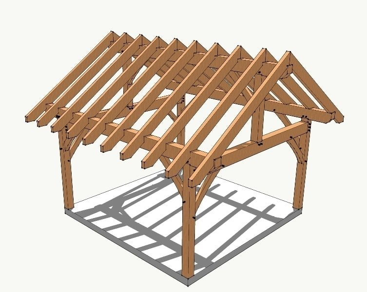16x16 King Post Timber Frame Fastener Kit Timber Frame Hq