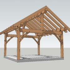 16x16 Timber Frame Pavilion