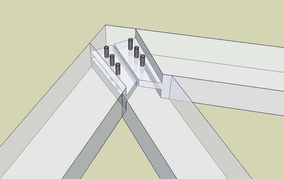 Upper King Post Joinery Detail Timber Frame Hq