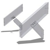 Upper Strut Timber Detail Isometric