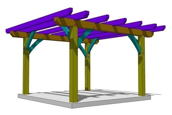 - 12x12 Pergola Plan - Timber Frame HQ
