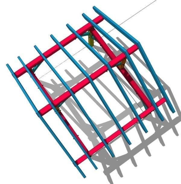 12x16 Timber Frame Porch