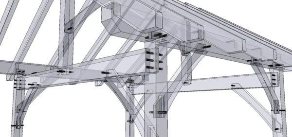 12x16 Timber Frame Porch Detail