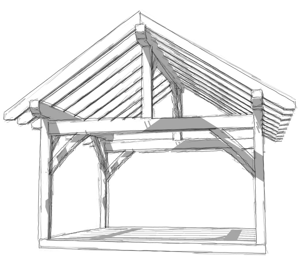 14x16 timber frame timber frame hq A frame blueprints