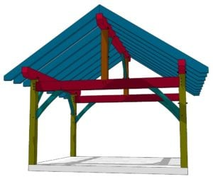 14x16 Timber Frame Shed