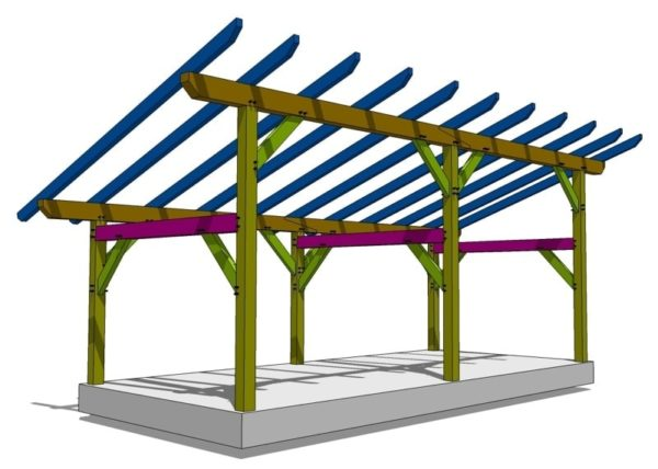 14x30 Timber Frame Shed