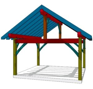 16x16 King Post Timber Frame