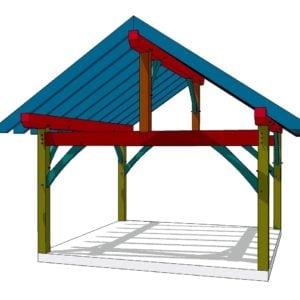 16x16 King Post Timber Frame