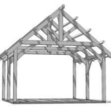 19x22 Outdoor Pavilion 1