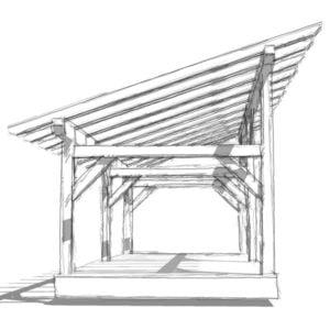 14×30 Timber Frame Shed