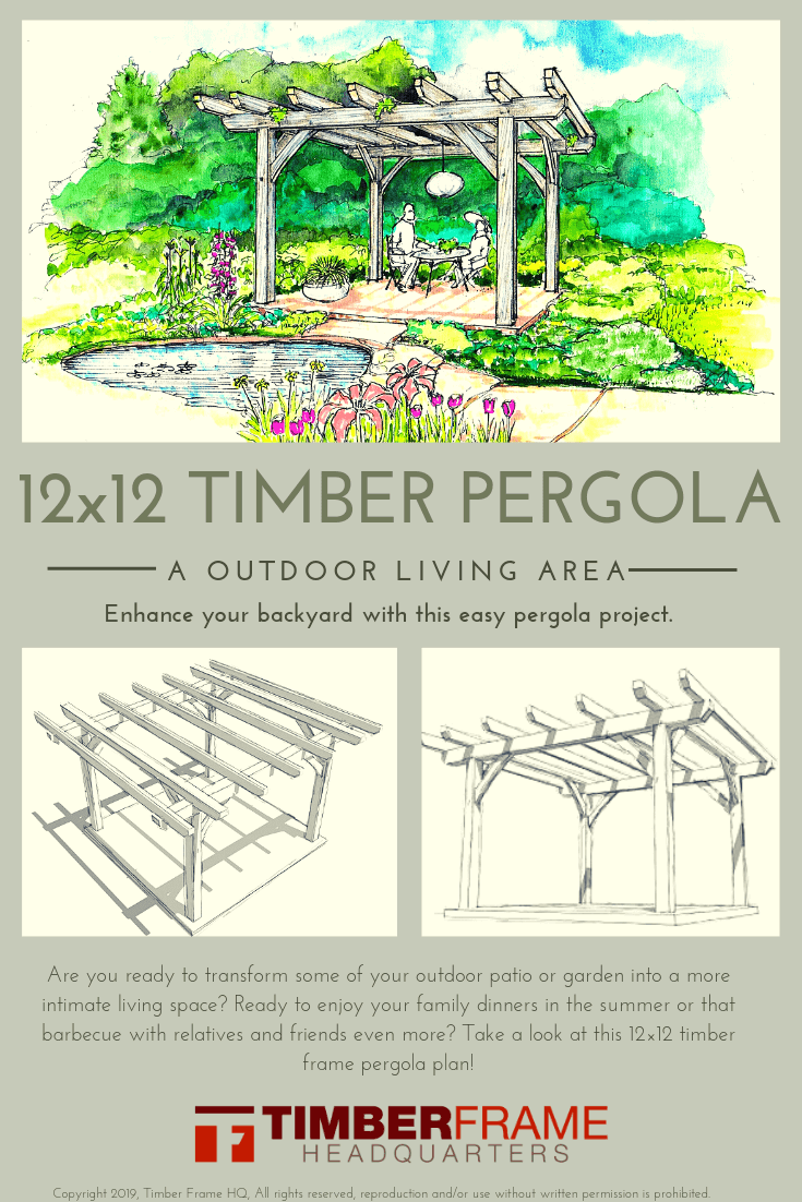 12x12 Timber Pergola Overview