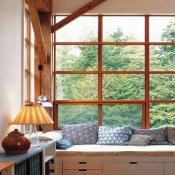 Timber Frame Window Seat