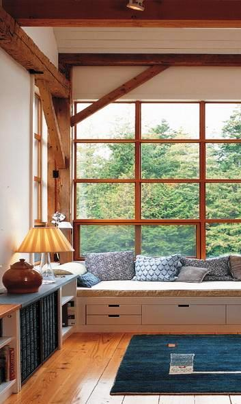 Built-in Furniture for Your Home - Timber Frame Window Seat