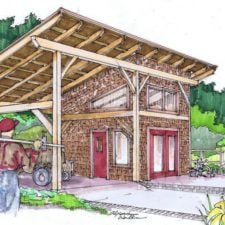 Timber Frame Shed Plan