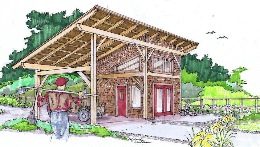 14x30 timber frame shed barn for Timber frame farmhouse plans