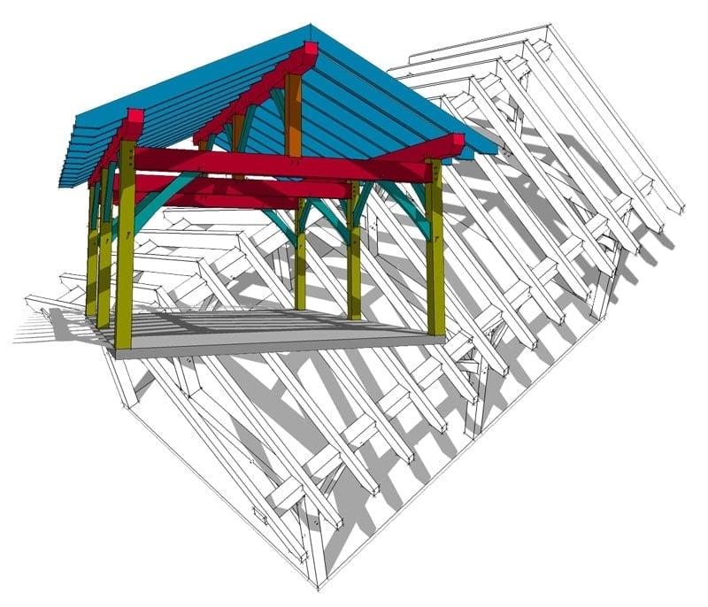 16x20 King Post Plan - Timber Frame HQ