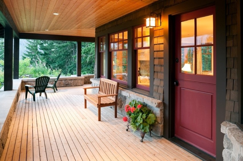 Exterior Lighting on a Timber Frame Home