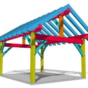 14x18 Timber Frame Outbuilding