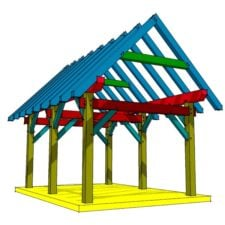 12x18 Post and Beam Shed