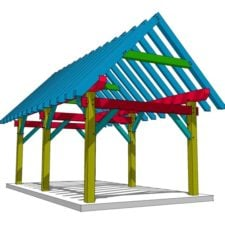 12x24 Timber Frame Pavilion