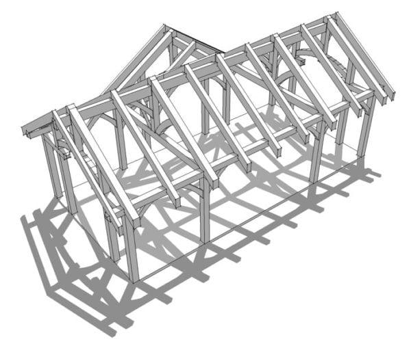 32x16 Timber Frame Pavilion