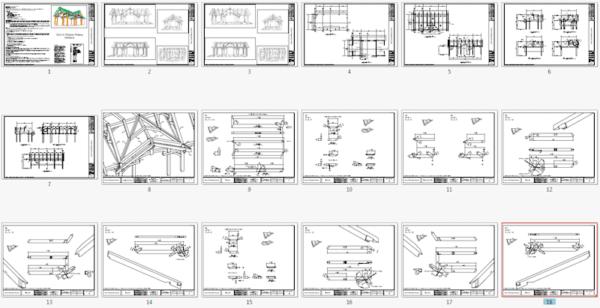 Timber Frame Pavilion Plan Overview