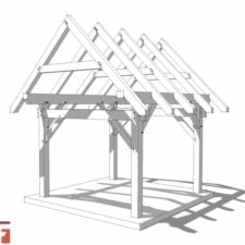 10x12 Post and Beam Shed