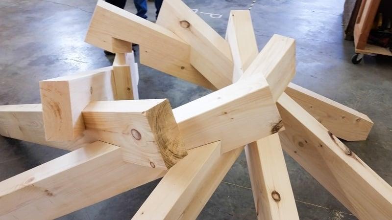 2014 SE Timber Framer Guild reciprocal frame