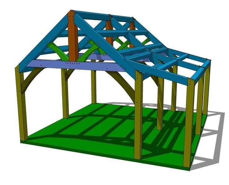 20x20 timber frame plan timber frame hq for Timber frame plans for sale