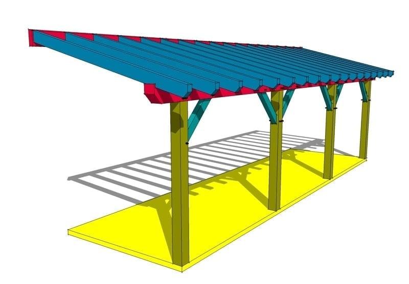 Shed Roof Framing Plan