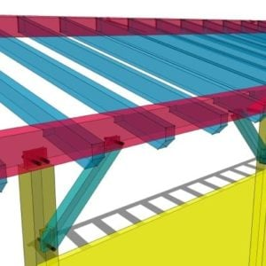 10x36 Timber Frame Shed Roof
