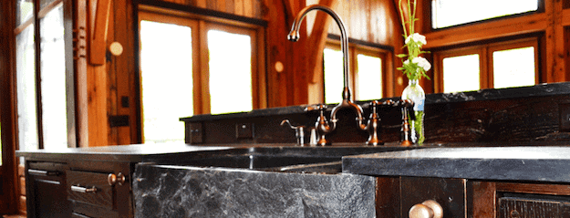 timber frame kitchen sink