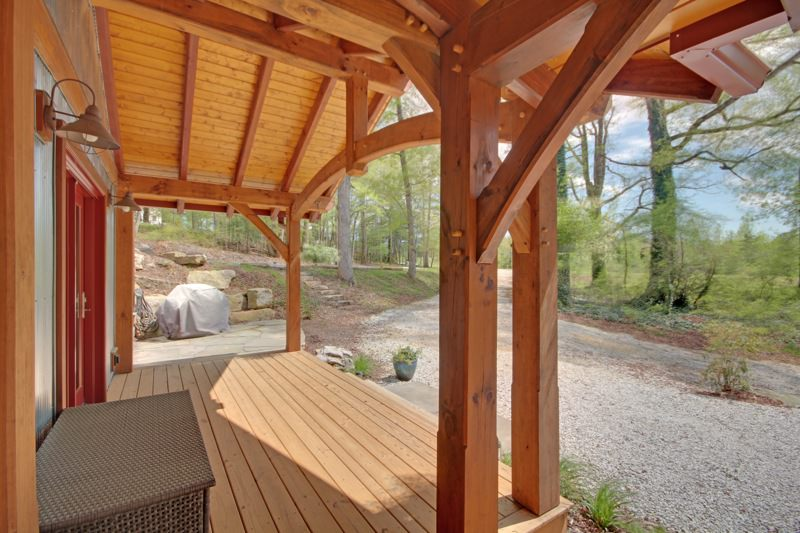 Universal Design timber frame porch