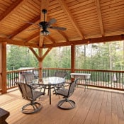 Covered Timber Frame Deck