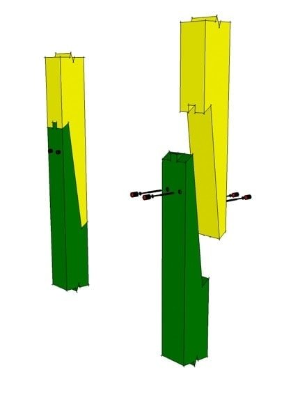 post or rafter scarf joint