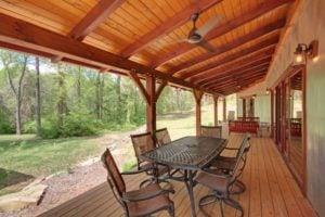 Whetstone Designs Corkscrew Cabin Porch