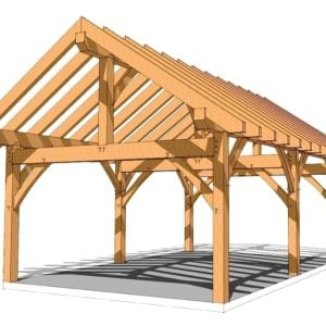 16x24 King Post Plan Timber Frame Hq