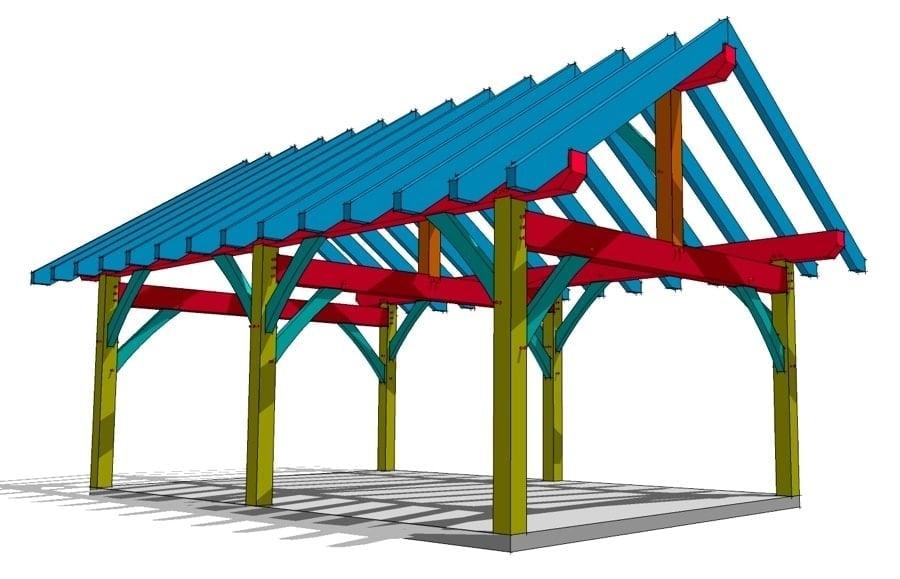 16x24 Timber Frame Plan - Timber Frame HQ