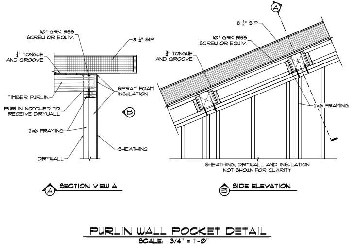 Purlin Wall Pocket Detail Drawing