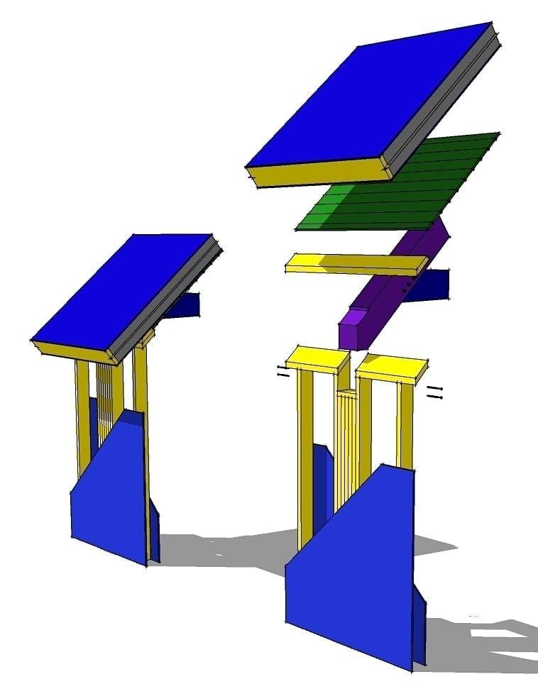 Timber Frame Wall Pocket Detail
