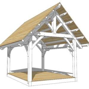 12x16 King Post Truss Pavilion
