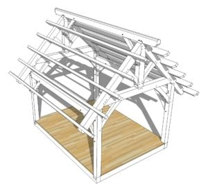 12x16 King Post Truss
