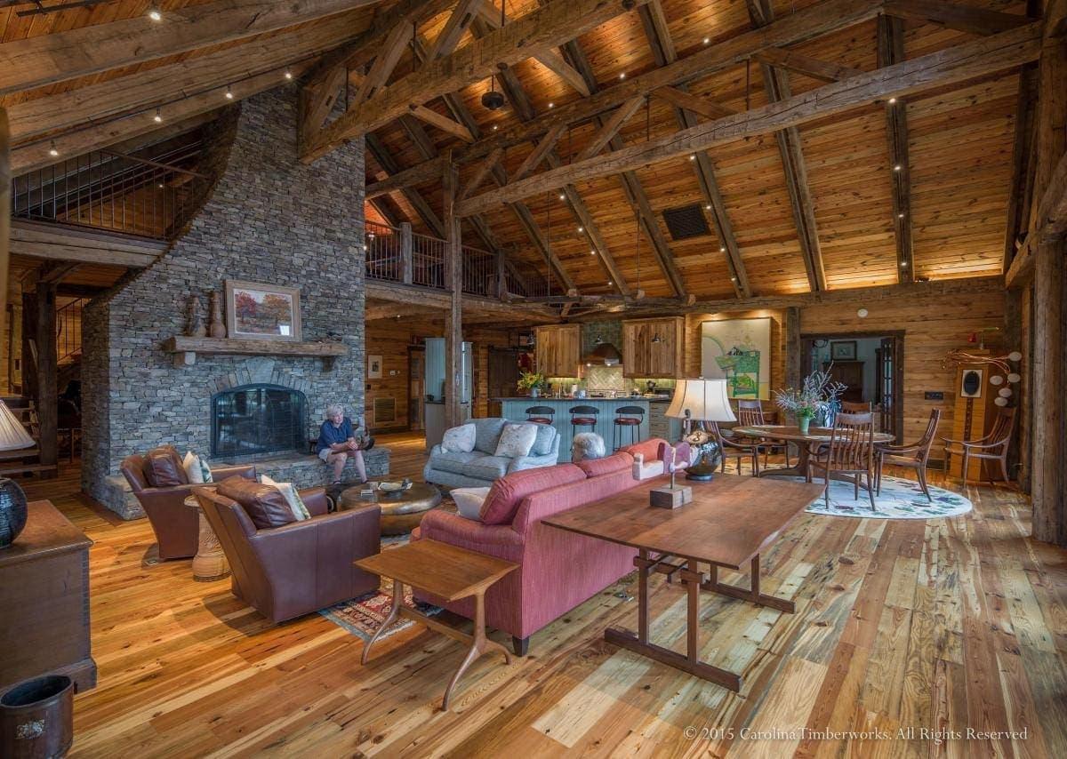 Carolina Timberworks Reclaimed Wood Great Room